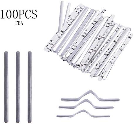 Tetsuyo Nose Bridge Strip 100PCSSpecs: 0.02X0.2X3.54 inch for DIY Mask Handmade Crafting Making Nose Bridge Clip