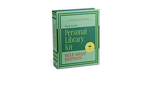 Self-Help Book Edition Knock Knock Personal Library Kit