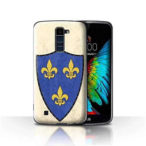 eSwish Phone Case/Cover for LG K8/K350N/Phoenix 2 / Fleur-De-Lis Crusader Design/Fantasy Medieval Shield Art ()