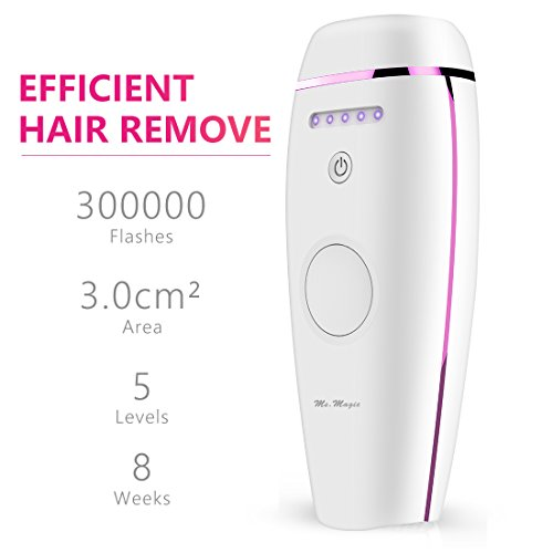 Ms.Magic Ultra light Face and Body IPL Laser Hair Removal Device System for Home Use Pofessional Result 300000 Flashes