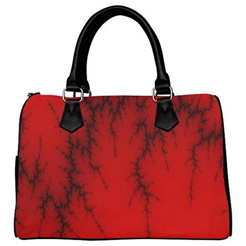 Jasonea Women Boston Handbag Top Handle Handbag Satchel Amazing Fractal Basad196022