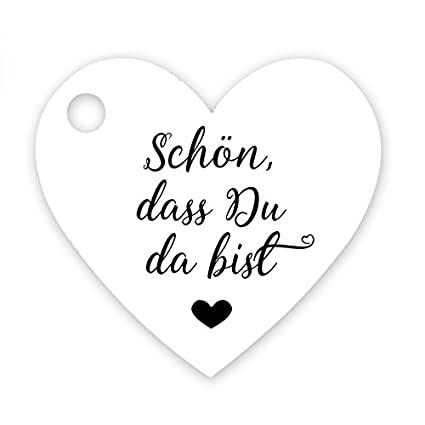 10 Stück Karte Kärtchen  Herzform Label für Hochzeit Geburtstag Dekoration
