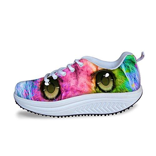 Vrouwen Lopen Sneakers Hond Grappige Wig Schoenen Voor Tienermeisjes Casual Pasvorm Ademend Patroon 5