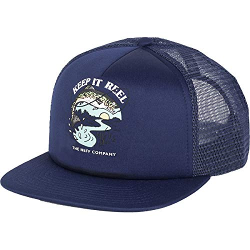 NEFF Men's Orphan Trucker Adjustable Hats,One Size,Marine