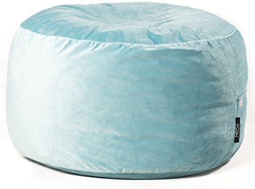 Groovy Posh Spa Velvet Small Bean Bag Chair Inzonedesignstudio Interior Chair Design Inzonedesignstudiocom