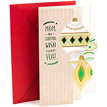 Amazon.com : Hallmark Christmas Greeting Card for Mom (Home Means ...