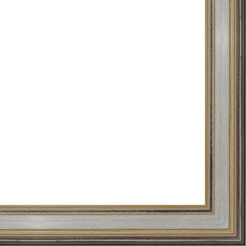"""24x36 - 1.75"""" 'Prima"""" Silver Contemporary Wood Frame -- Movi"""