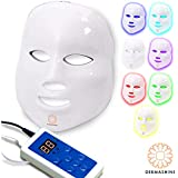 Dermashine Pro 7 Color LED Face Mask | Photon Red Light Therapy For Healthy Skin Rejuvenation | Collagen, Anti Aging, Wrinkles, Scarring | Korean Skin Care, Facial Skin Care Mask