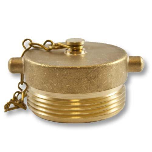 Brass 2 1/2'' NH Plug (Pin Lug) Adapter with Chain