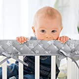 3-Piece Padded Baby Stars Crib Rail Cover Protector