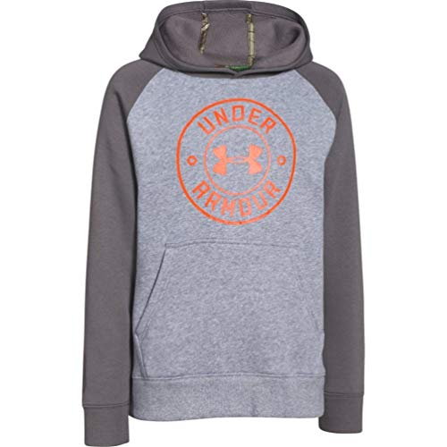 - Under Armour Youth ColdGear Established Hoodie (Gray) 1259288-025 - Large