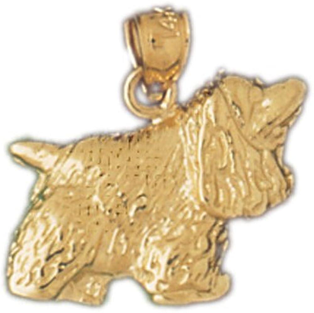 14k Yellow Gold Cockerspaniel Dog Pendant