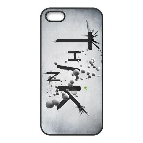 V8R35 fischfanger penser I4N3CM coque iPhone 5 5s cellulaire cas de téléphone couvercle coque noire SG4XAF7IX