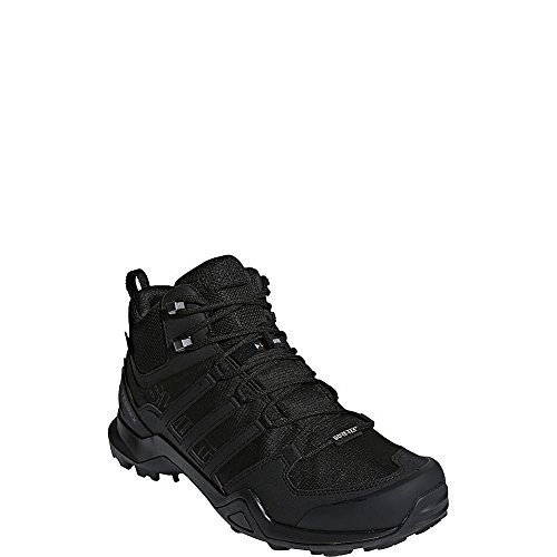 adidas outdoor Terrex Swift R2 Mid GTX Hiking Shoe - Men's Black/Black/Black, 14.0