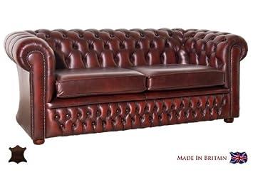 AuBergewohnlich Chesterfield Sofa Windsor 3 Sitzer Echtleder Used Optik Vintage Semi Anilin  Leder