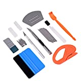 FOSHIO Car Vinyl Wrap Window Tint Tools Kit Include Small Contoured Felt Card Squeegees, Micro Magnetic Stick Squeegee, Vinyl Cutter, 9mm Lockable Utility Knife & Art Craft Knife for Film Installation