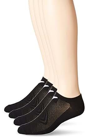 Callaway Men's Tech No-Show Socks 4-Pack, Black, 10-13/Shoe Size 9-12