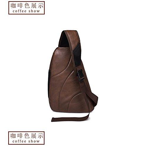 Hongrun Version coréenne de la tendance de la mode Mens chest Pack est un package de poitrine de grande capacité sac Messenger pack Ride