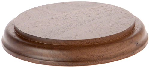 (Plymor Solid Walnut Round Wood Display Base with Ogee Edge.75
