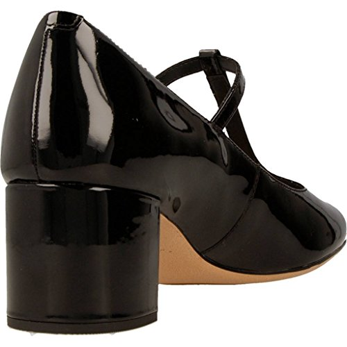 Clarks Orabella Fern Womens T-Bar Court Shoe black patent smev9FWCY