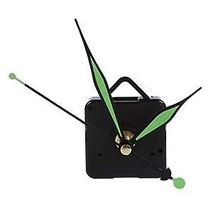 SODIAL(R) Maquinaria de Cuarzo de Reloj con Agujas en verde Relojero 8