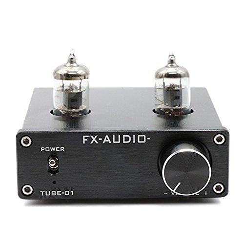 FX Audio TUBE-01 6J1 Tube Buffer HIFI Preamplifier (Black)
