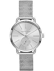 Michael Kors Women's 'Portia' Quartz Stainless Steel Casual Watch, Color:Silver-Toned (Model: MK3843)