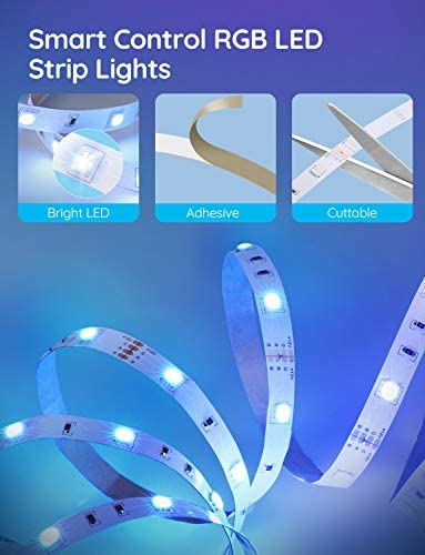 Govee 32.8 Feet Led Strip Lights Work with Alexa and Google Assistant RGB for Room Kitchen