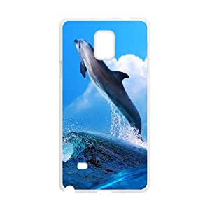 Samsung Galaxy Note 4 Cell Phone Case White Dolphin Phone Case Cover Protective DIY CZOIEQWMXN24955