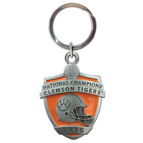 1pc, Pewter Clemson National Champions 2016 Key Chain