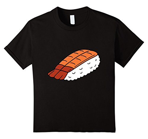 Sushi Halloween Costume (Kids Sushi - Sushi and Wasabi Matching Halloween Costume Shirt 10 Black)