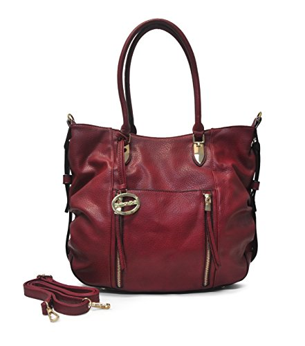 Sorrentino Sori Collection No. 072 Double Zipper Tote (Red)