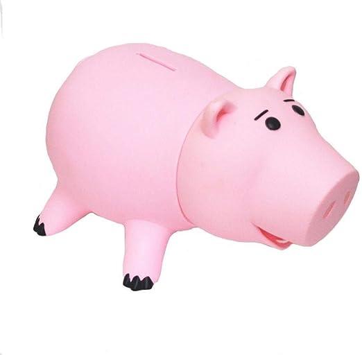 Hucha Rosa del Cerdo Caja De Dinero De Plástico Caja De La Moneda ...