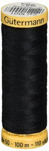 Natural Cotton Thread 110 Yards-Black