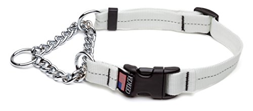 Cetacea Large Adjustable Martingale Chain, 1″, White For Sale