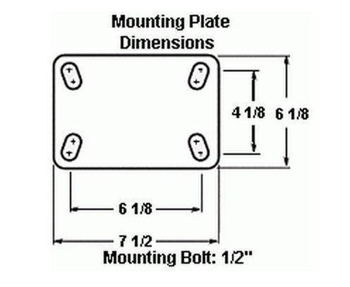 16'' Hamilton Cush-N-Aire Pneumatic Swivel Plate Caster, 960 lbs Cap