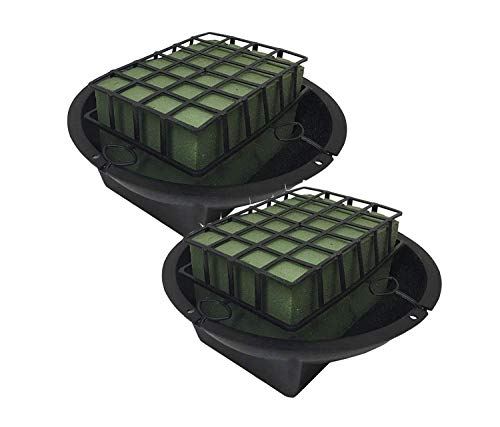 THE UM24 2 pk Wet Floral Foam Brick with Tray