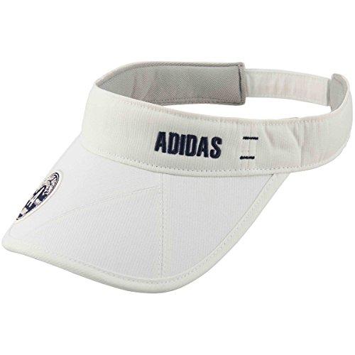 アディダス Adidas 帽子 ADICROSS ストライプサンバイザー レディス ホワイト フリー