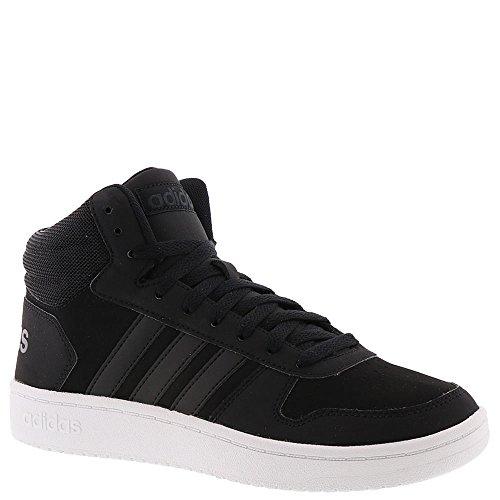 adidas Men's Hoops 2.0 Mid Sneaker, Black/Carbon, 9.5 M US (Shoes Sport High Tops)