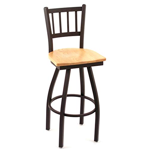 Stool Swivel Natural Oak Pub - Cambridge Natural Oak Extra Tall Vertical Slat-Back Swivel Barstool, This Barstool Also Features a 36-inch seat Height, and a 360-degree Swivel Design. Guaranteed.