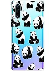 Oihxse Cristal Compatible con Huawei Y7 2019/Y7 Prime 2019/Y7pro 2019 Funda Ultra-Delgado Silicona TPU Suave Protector Estuche Creativa Patrón Panda Protector Anti-Choque Carcasa Cover(Panda A5)
