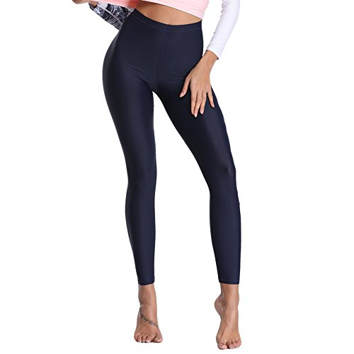Lynddora Women's Active Fitness Leggings Running Tights Yoga Pants Swim Bottom UV Sun Protection (US S/Tag M) ()