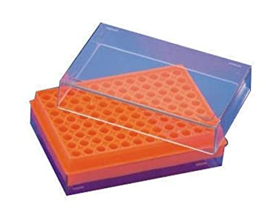 Polylab PCR Tube Rack (Pack Of 4) Size - Rack for 96 PCR Tubes of 0.2 ml,  Orange: Amazon.in: Industrial & Scientific
