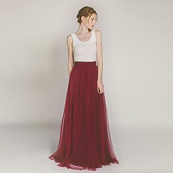 d55a7490c SONGQINGCHENG Chiffon Suave Nupcial Vestido Largo Gasa Falda Mujer 3 ...