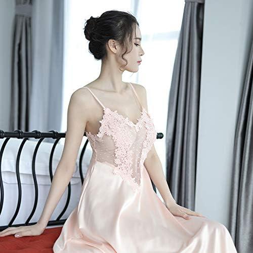 Swertuy Sexy Ropa Interior erótica Simulación Transparente Camisa de Seda Correa de Encaje Conjunto de Dos Piezas de Falda para el hogar, una Talla, Vestido de Color Rosa: Amazon.es: Hogar