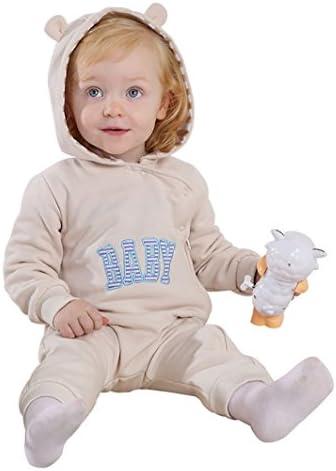 Dearmy 0-24 Monate Kleinkind Säugling Baby Kinder Niedlich Ohr Mit Kapuze Reißverschluss Spielanzug Overall, Säugling Junge Mädchen Weich Pyjama Steigen Kleider (hellgelb, 6-12 Monate)