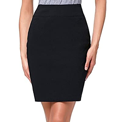 Kate Kasin Women's Knee Length Pencil Skirts Slim Fit Business Skirt at Women's Clothing store