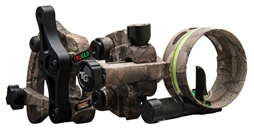 TRUGLO RANGE-ROVER Series Single-Pin Moving Bow Sight, Realtree Xtra, Right-Handed, .019