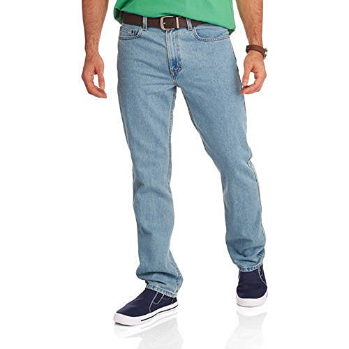 (Faded Glory Men's Regular Fit Blue Jeans Available In Regular & Big Men's (36X36, Light Tint))