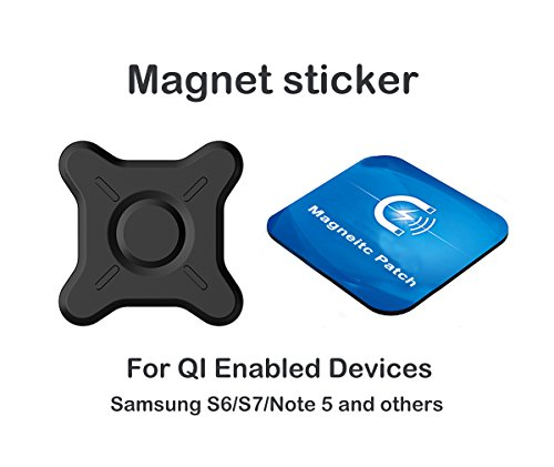 Magnetic Phone Sticker for Neotrix QI Wireless Car Charger Dock and Desk Charger Stand(2 pieces)